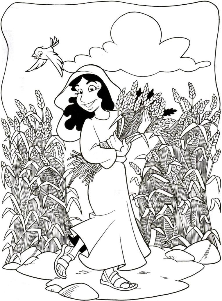Childrens bible stories and coloring pages - Coloring Pages For Children On The Story Of Ruth And Naomi Google Search
