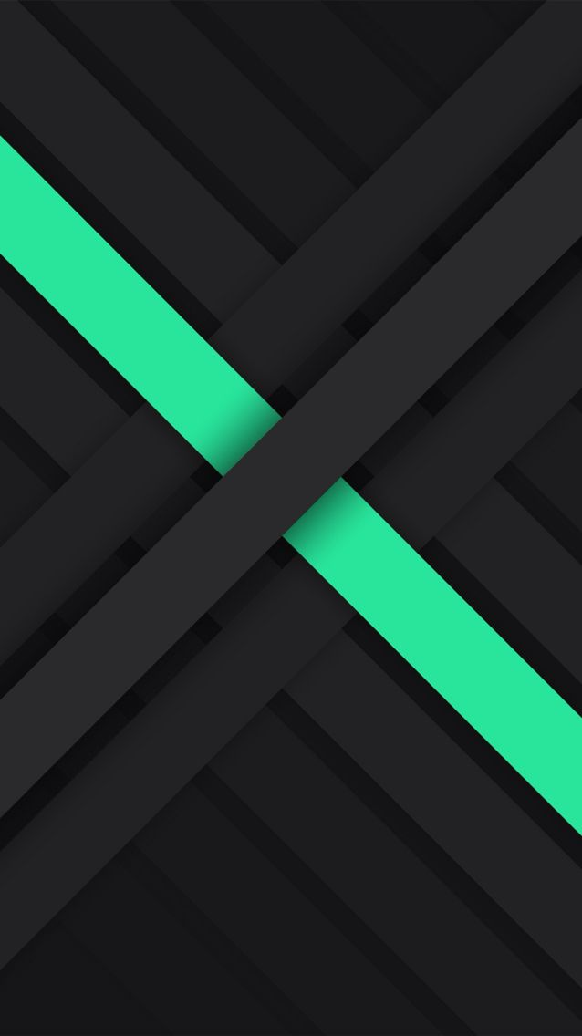 Wallpaper and backgrounds: diagonal interlocking stripes: black and aqua