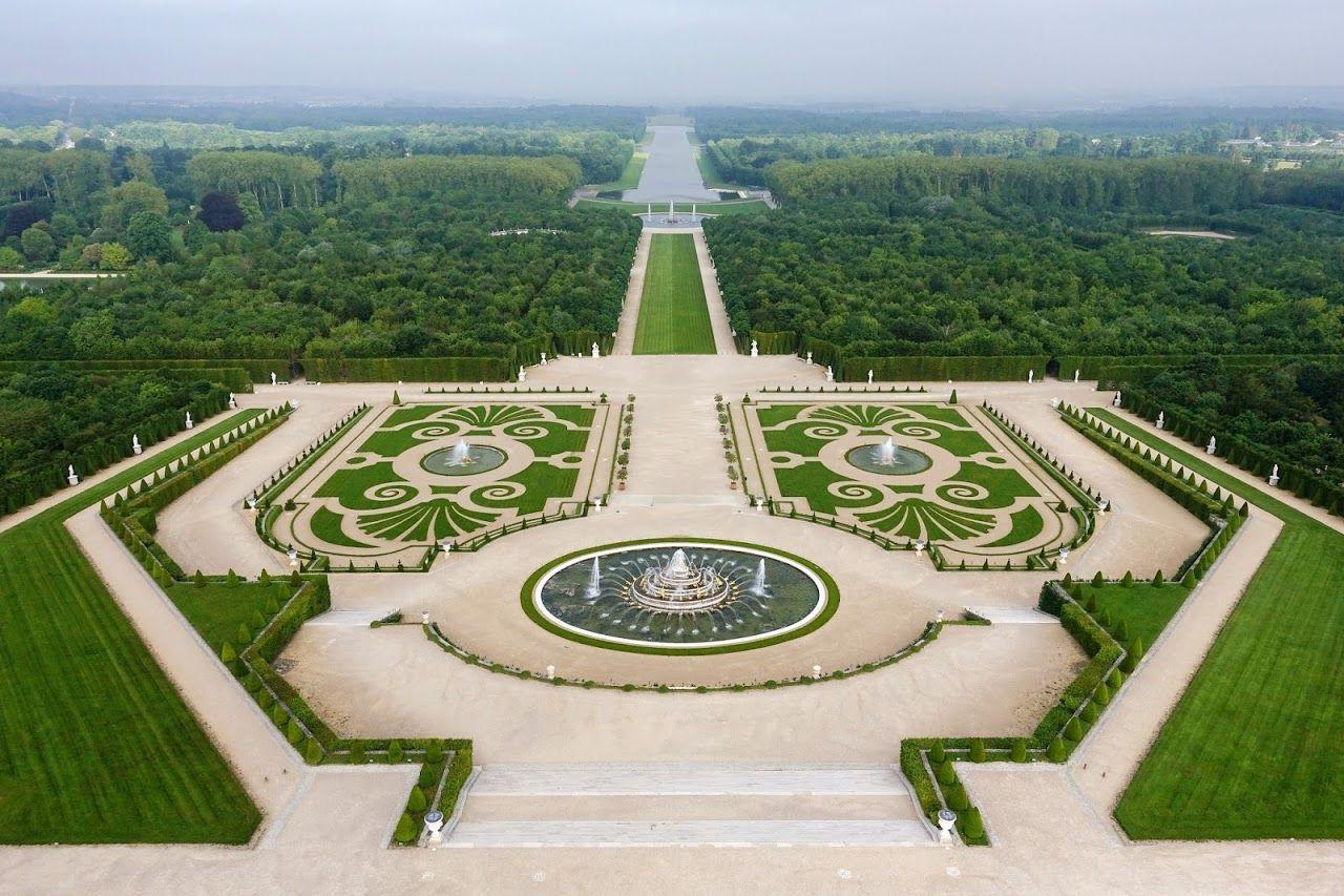 Photo vue a rienne des jardins la fran aise du ch teau de jardins la fran aise l 39 art - Par vue de jardin ...