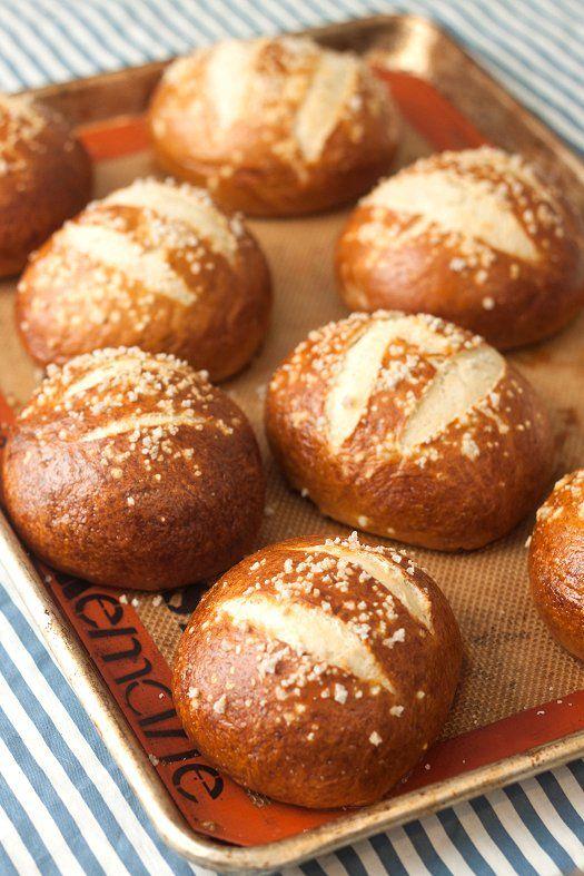 Homemade Pretzel Buns Recipe Food Kitchen Aid Recipes
