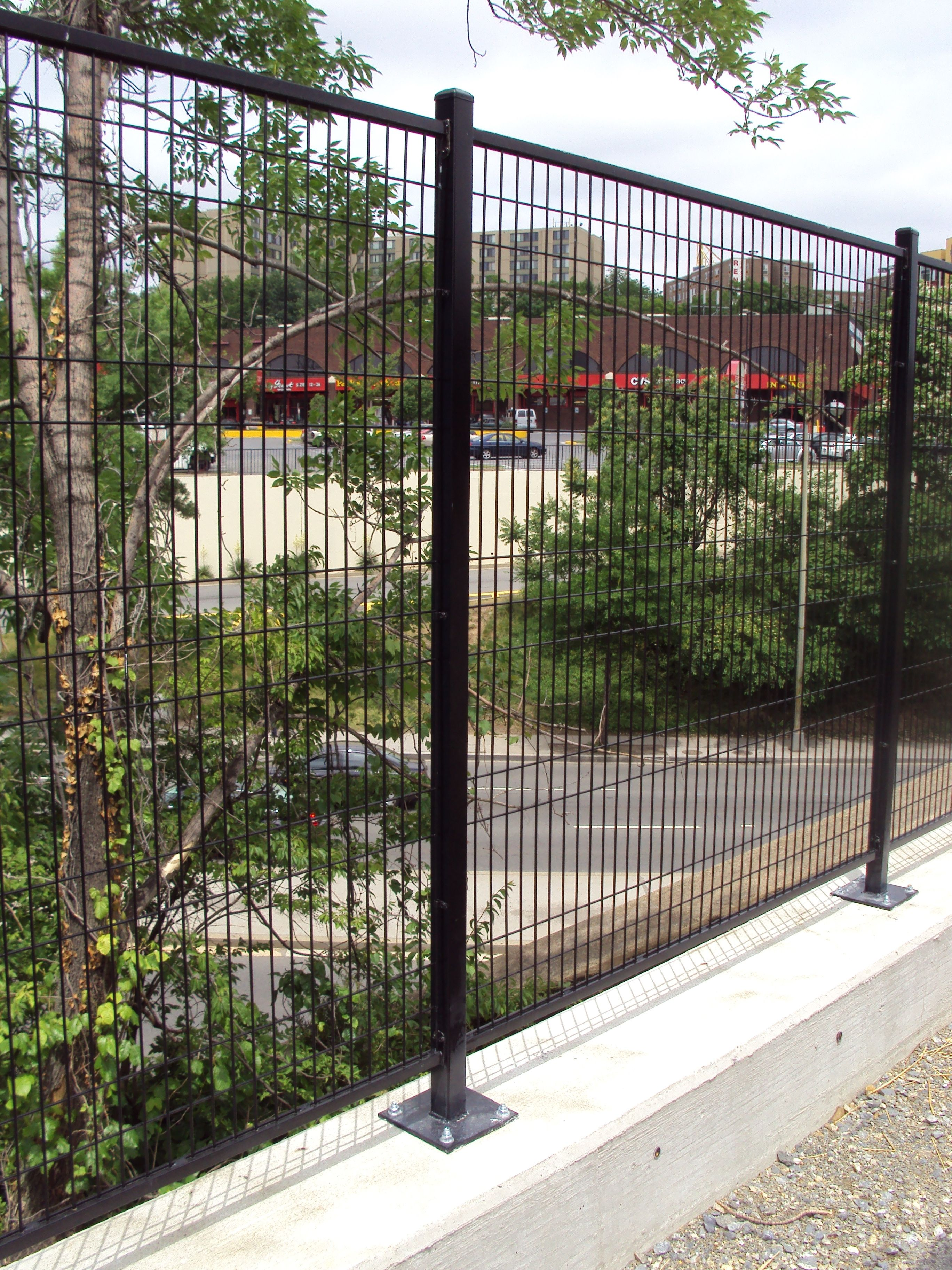 Ornamental Wire Fencing | 60 High 6 Gauge In Black Patriot Ornamental Wire Fence