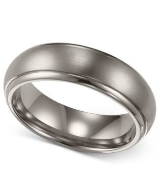 Triton Men S Anium Ring Comfort Fit Wedding Band 6mm