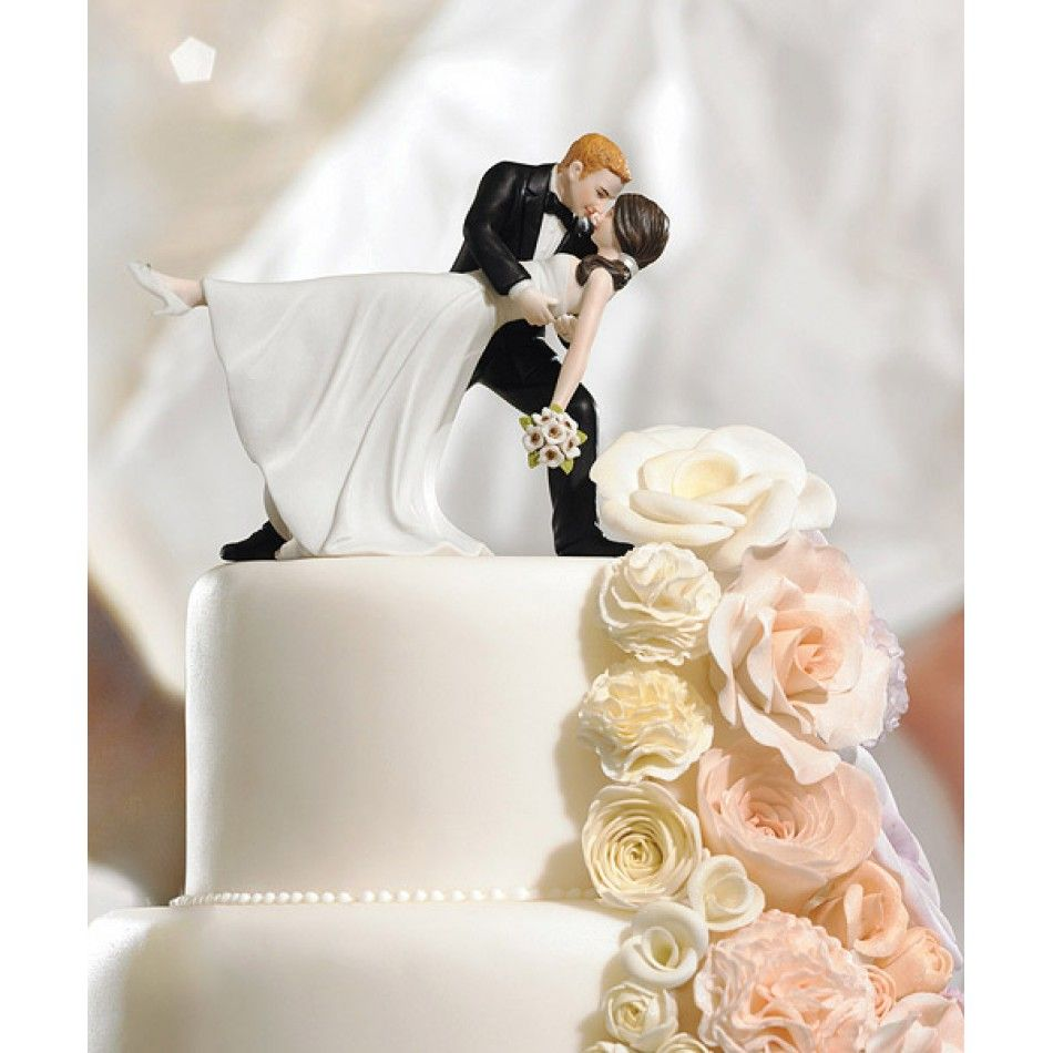 A Romantic Dip Dancing Bride & Groom Wedding Cake Topper Figurines ...