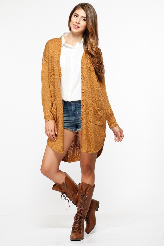 a7ff1e3371 Cozy Overisized Knit Camel Cardigan   Cicihot Clothing