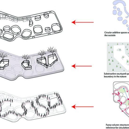 Space Axon Diagram Chuxue Wang Panels Pinterest Diagram And Arch