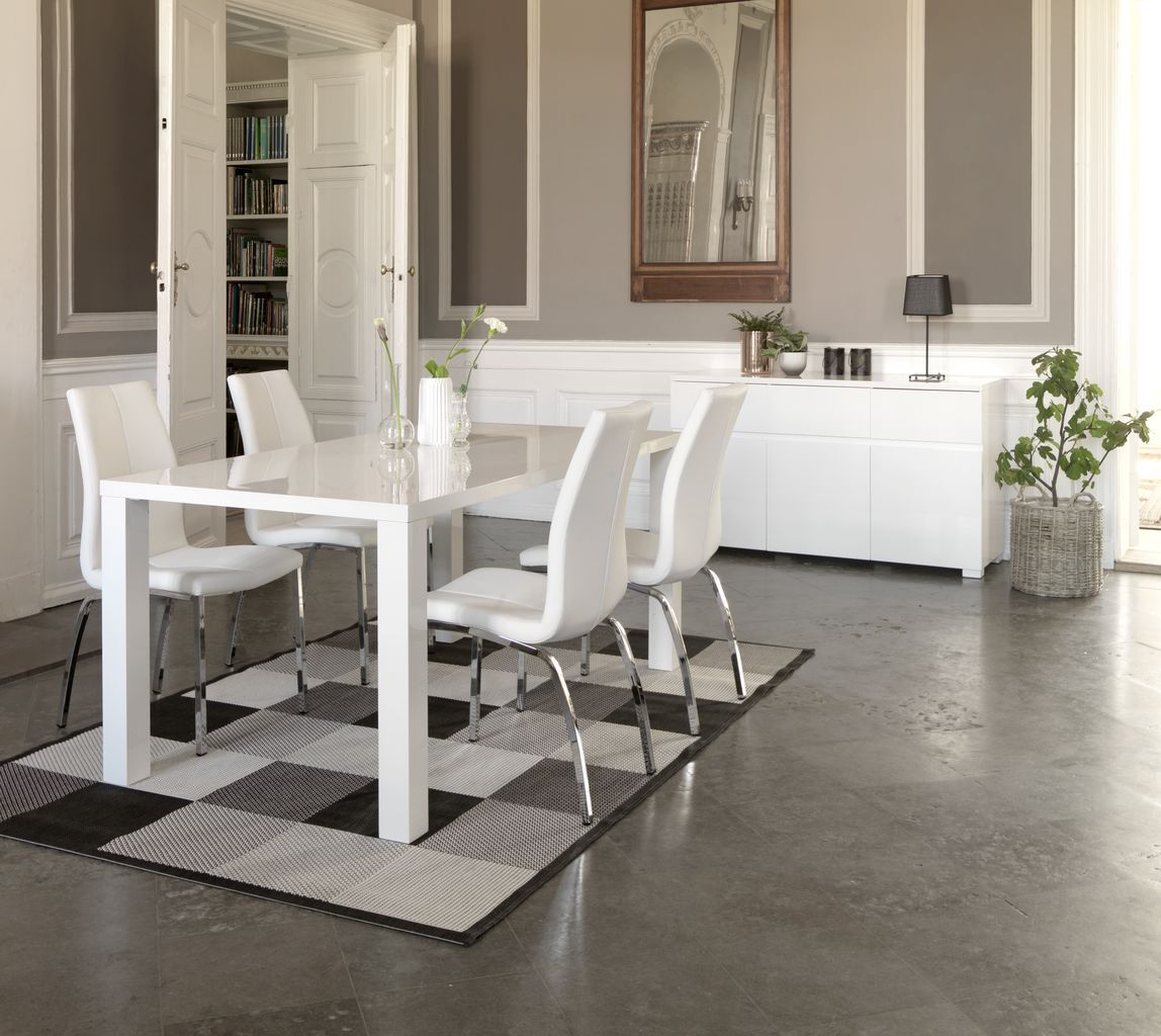 Eettafel OMME L160 wit hoogglans | JYSK | Eetkamer | JYSK | Pinterest