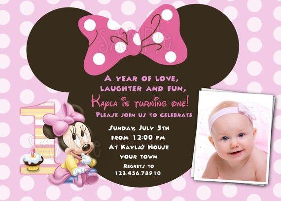 baby minnie mouse 1st birthday custom