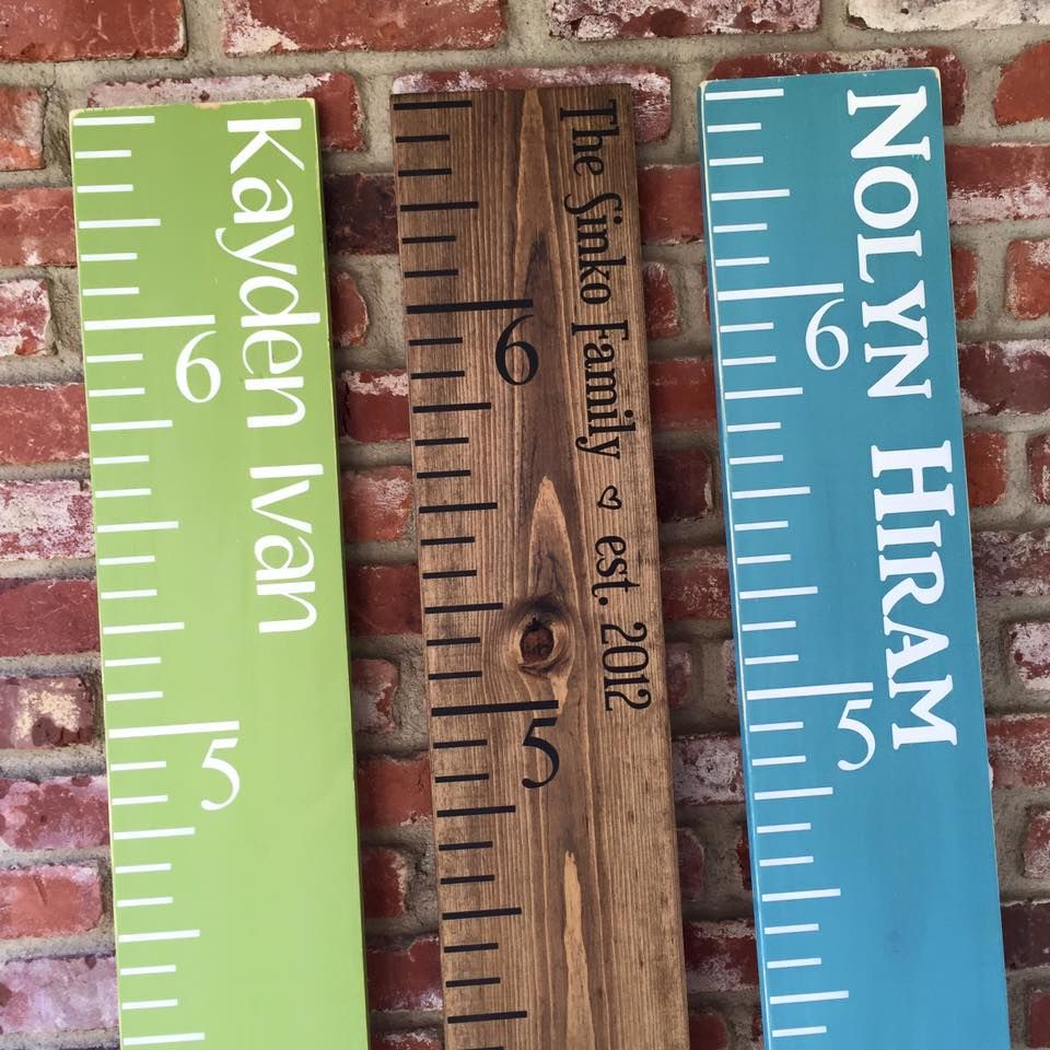 Make your own Growth Chart Ruler!! Check out these