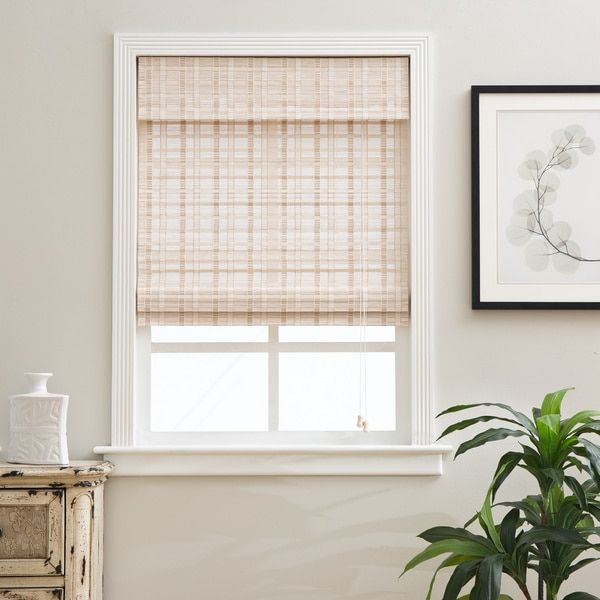 arlo blinds oriental whitewash bamboo blinds shopping the best deals on - Bamboo Window Shades