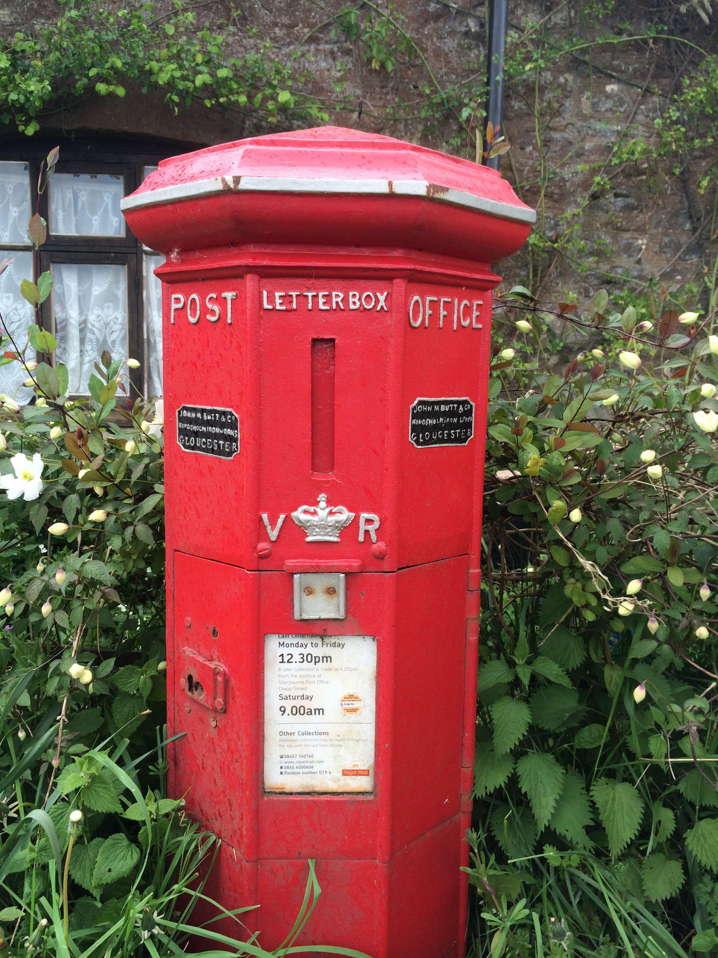 Oldest post box in use, Sherborne, Dorset, UK Post box