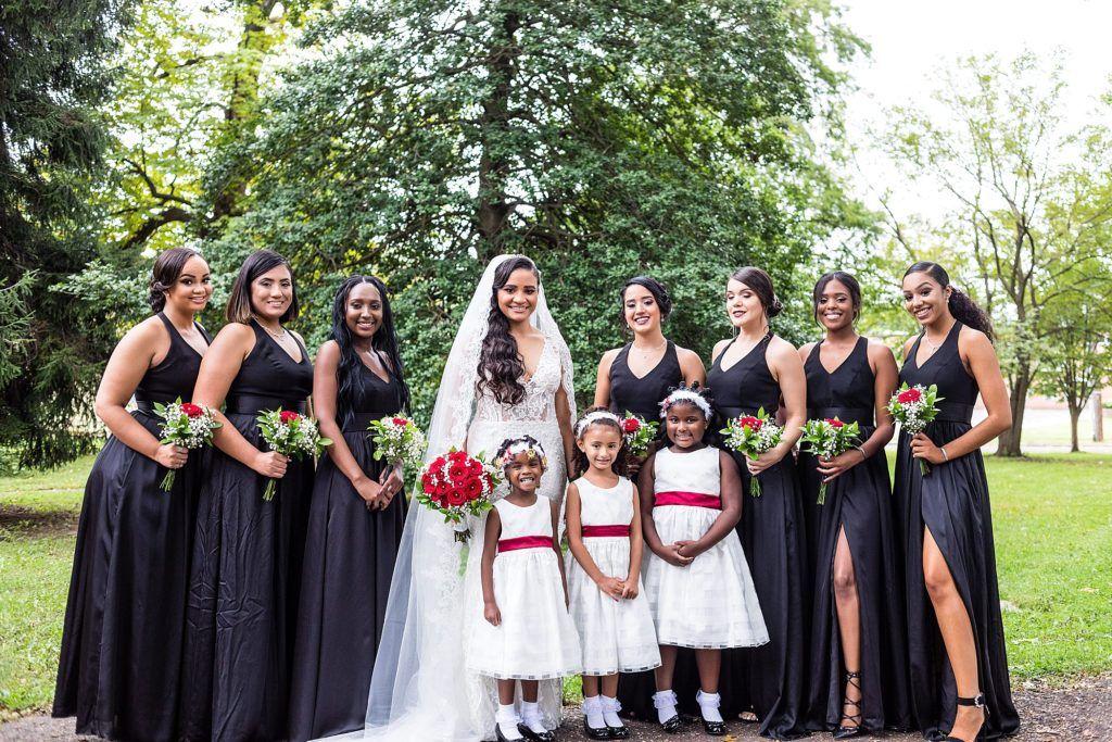 Bride Wearing Her Galina Signature Wedding Dress With Her