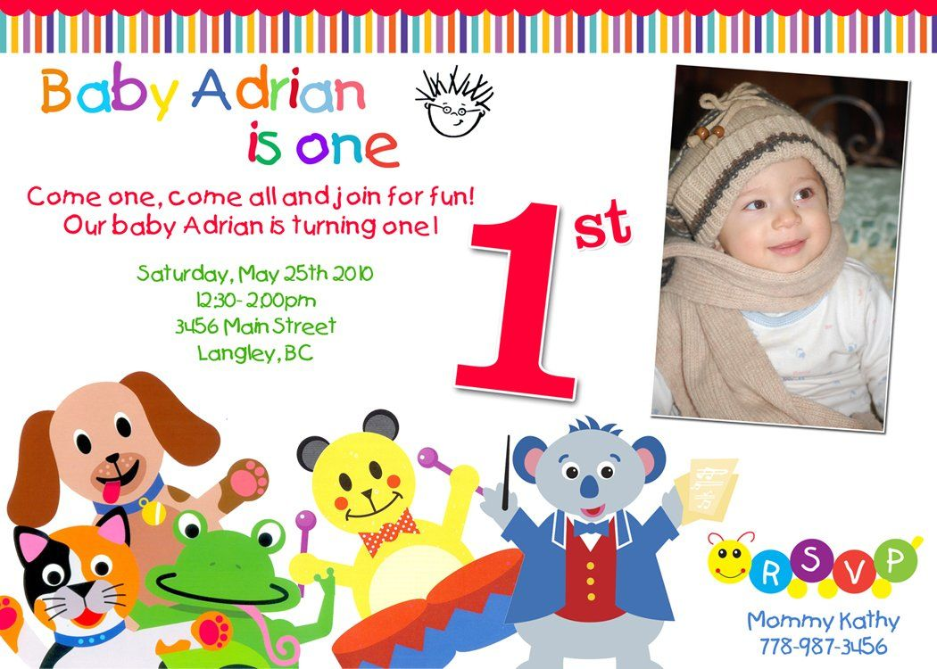 Baby+Einstein+First+Birthday-+Custom+Birthday+Invitation | Aiden ...