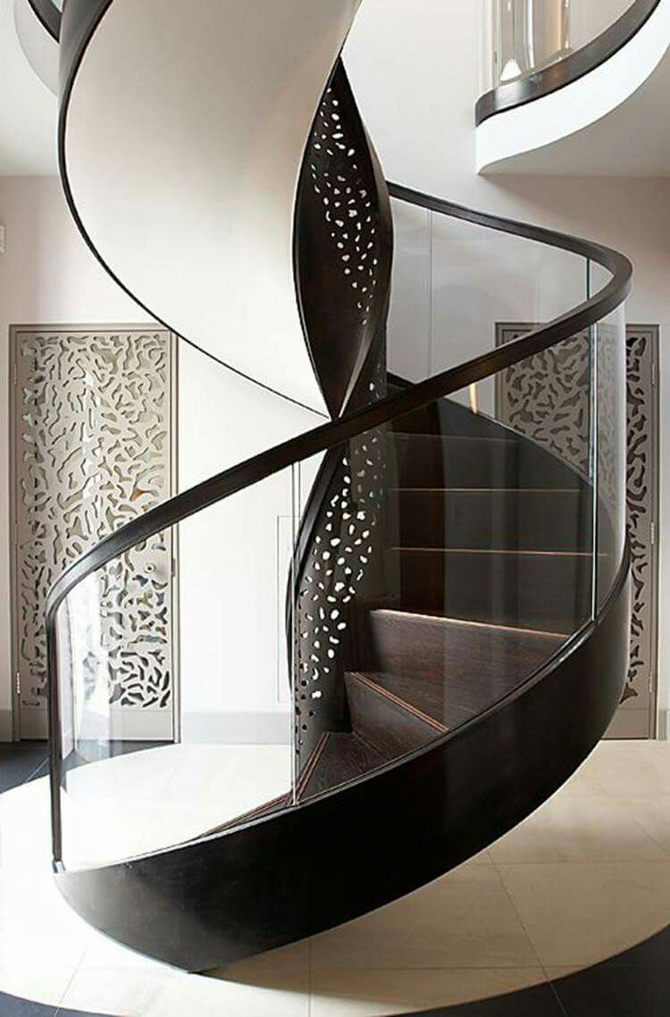Best Pin By Gordana Ristic On Home Curved Staircase Interior 400 x 300