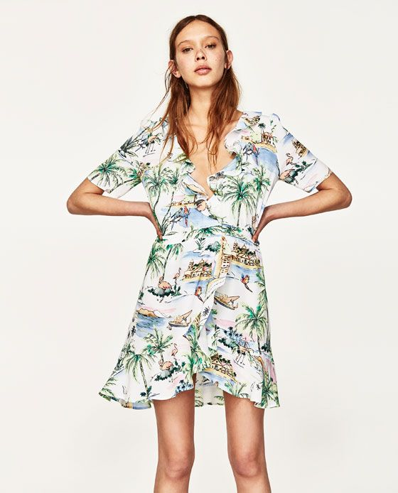 Image 2 of SHORT WRAP DRESS from Zara