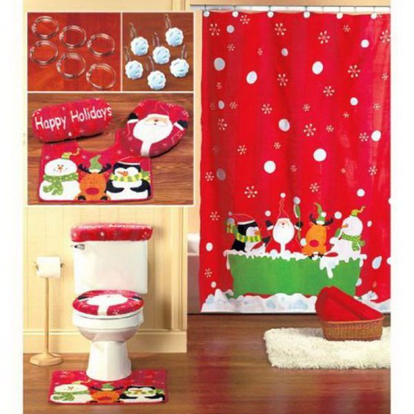 Best Home Funny Christmas Bathroom Decoration Ideas Christmas Bathroom Decor Christmas Bathroom Christmas Shower Curtains