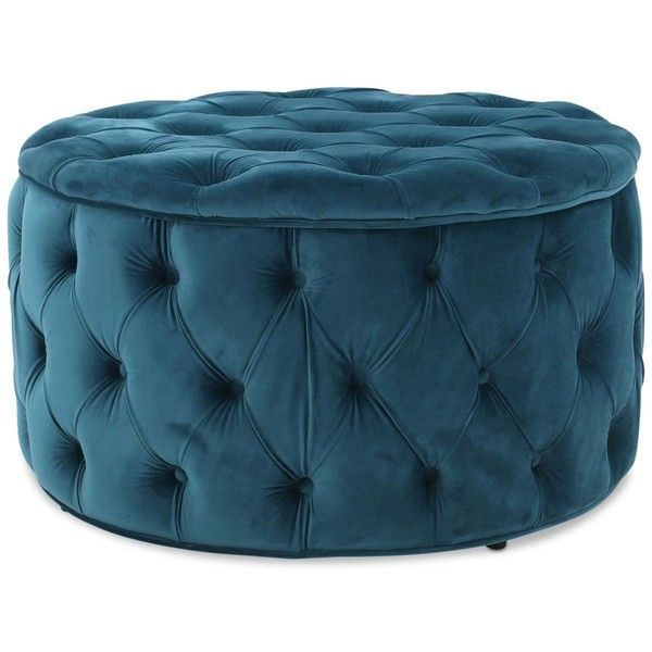 Owain Round Ottoman, Quick Ship featuring polyvore home furniture ...