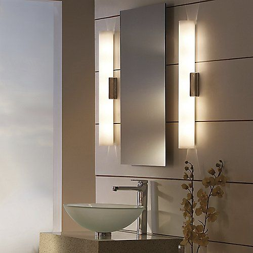 The Tech Lighting Solace Bath Bar Adds Soothing Light And Simple Comforting Style In Bathroom Mirror Lights Lighted Wall Mirror Contemporary Bathroom Lighting