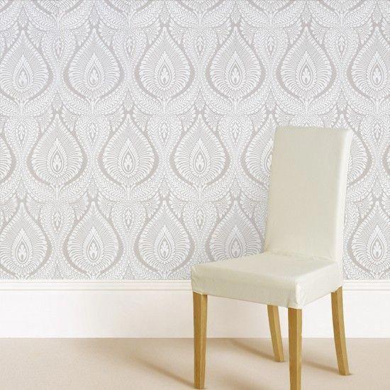 Marks & Spencer modern damask wallpaper | Housetohome.co.uk #ModernHomeDecorIdeas