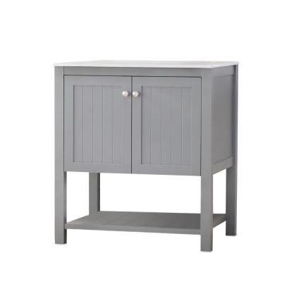 Home Decorators Collection Cranbury 30 In Vanity In Cool Gray With Vitreous China Vanity Top