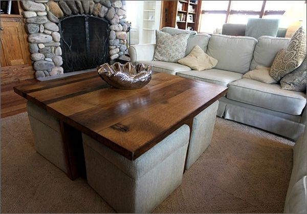 la table basse avec pouf pour un style de vie moderne id es deco pinterest table basse. Black Bedroom Furniture Sets. Home Design Ideas