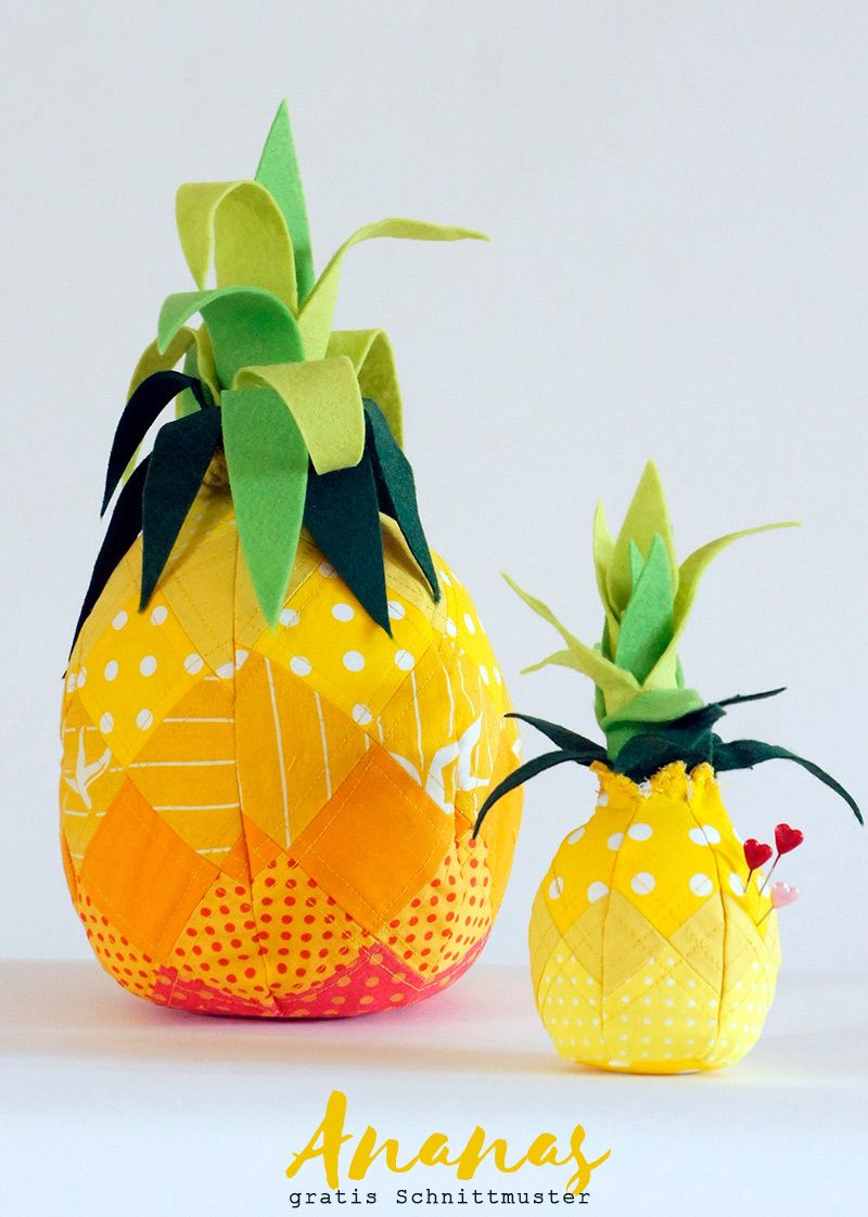 Ananas (Nadel)Kissen | Gratis schnittmuster, Nadelkissen und Kissen