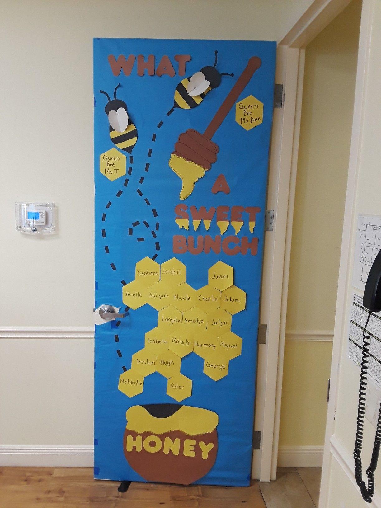Bumble Bee Theme Decorated Door Idea