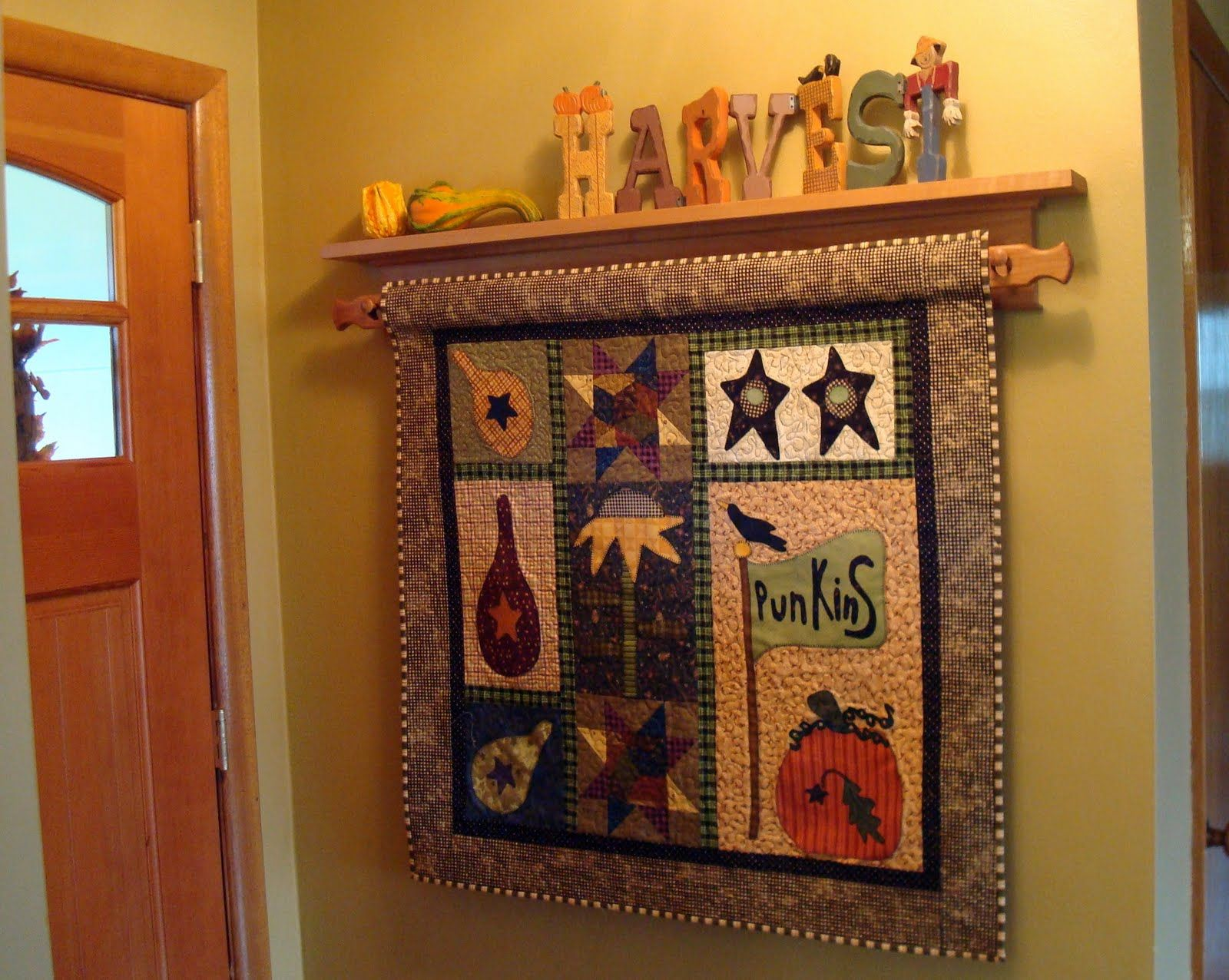 The Dream Have A Quilt Rack By The Door And A Quilt For All