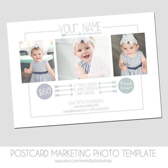 INSTANT DOWNLOAD Photography Postcard Mini Session Flyer Marketing - Photography postcard template