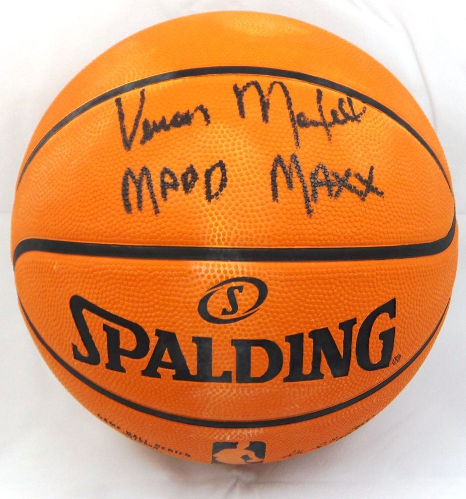 vernon maxwell madd max signed autographed nba basketball tristar
