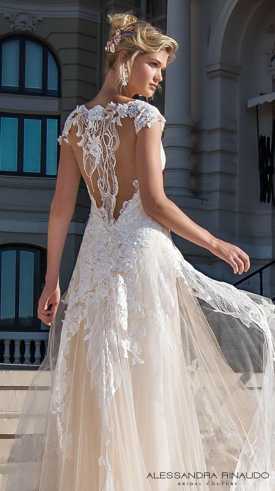 4af7b3cd316 alessandra rinaudo 2017 bridal cap sleeves scoop neckline heavily  embellished bodice ivory color romantic princess a line wedding dress razor  back chapel ...