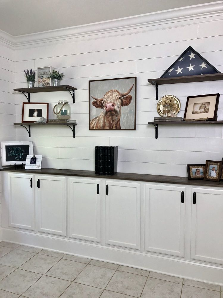 How To Build In Wall Cabinet Using Stock Kitchen Cabinets Diy