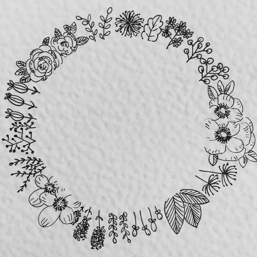 Zeit für Blumen #floralwreath #flower #blumen #blümchen #fineliner ...