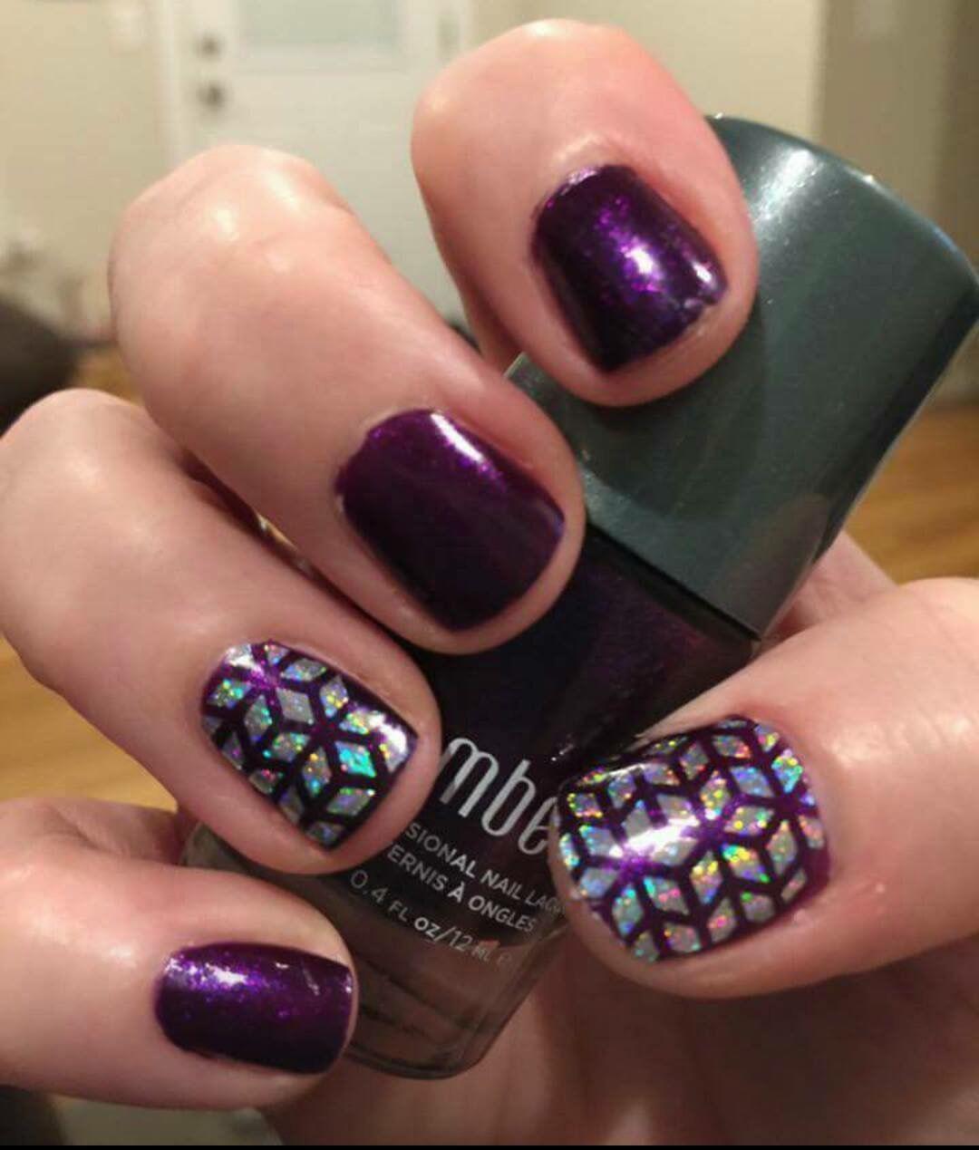 Sleeping Beauty Nails: Jamberry. Sleeping Beauty. Geo Diamond