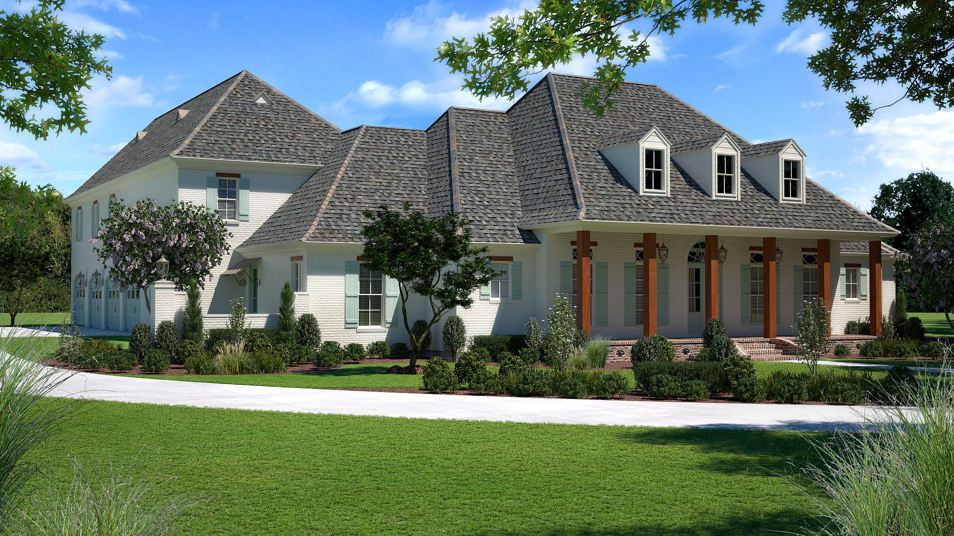 House Plans Acadian Style Home