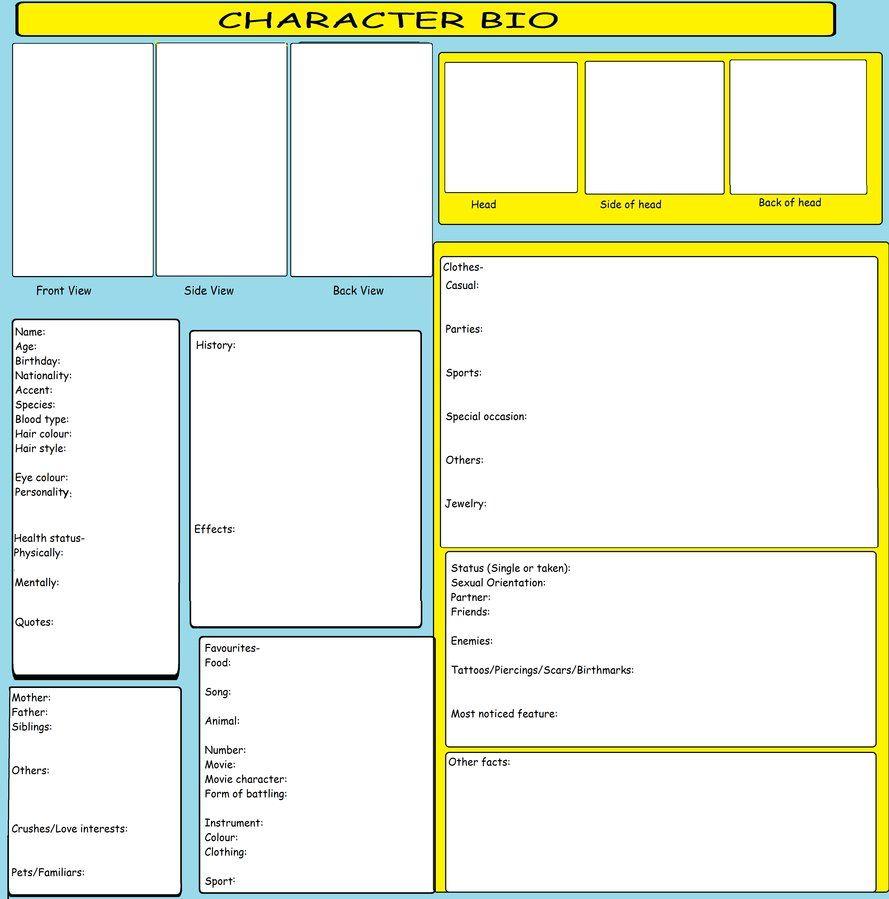 Character Bio Template By Kitkattykomodo Deviantart Com On Deviantart Character Bio Template Character Bio Oc Template