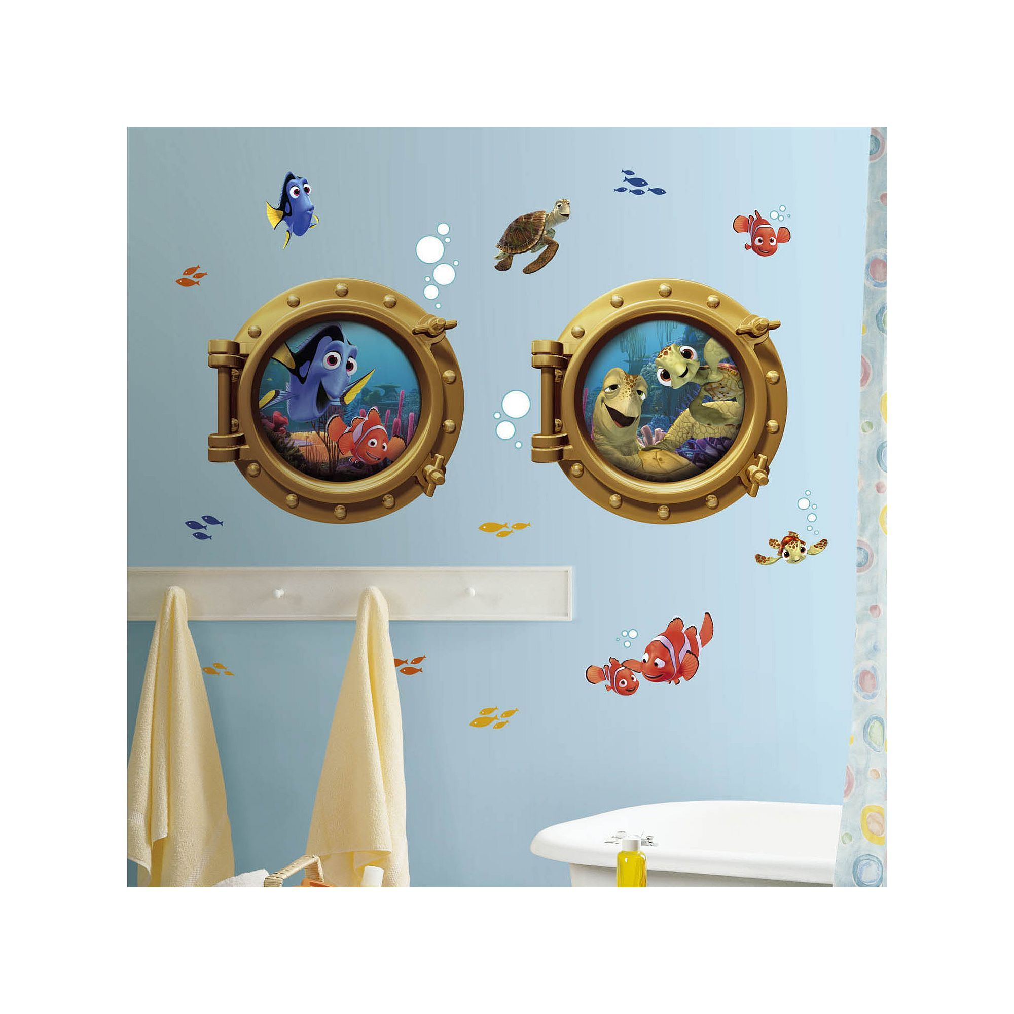 Roommates Disney Finding Nemo Peel & Stick Wall Decals #disneyhousedecor