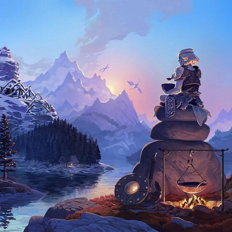 Skyrim Sunrise by melora #Skyrim #ElderScrolls #Gaming #Xbox