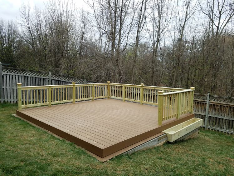 How To Build A Diy Floating Deck In A Sloped Backyard Sloped