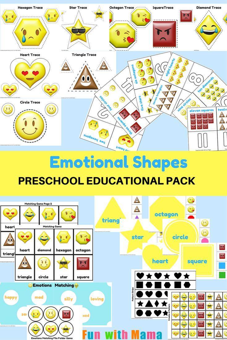 Emotions Shapes Free Printable Preschool Pack Free Printable