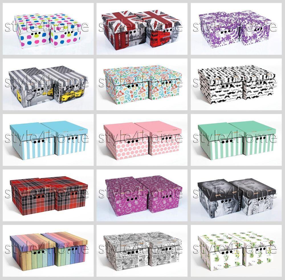 Stylish 2pcs Decorative Storage Bo Home Office Bedroom Wardrobe Box Organiser Furniture Diy Solutions Ebay