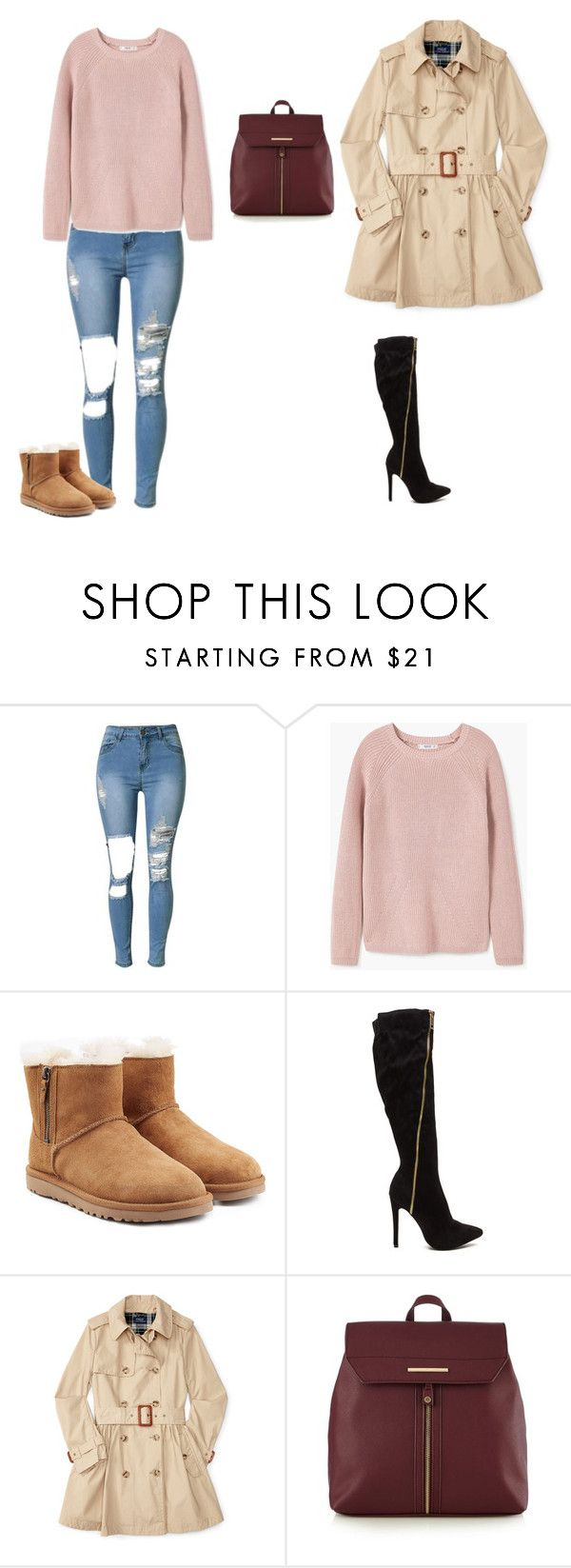 """""""2 in 1 Fall Outfits That Can Be Dressed Up & Down Easy"""" by hammiegrl on Polyvore featuring MANGO, UGG and Red Herring"""