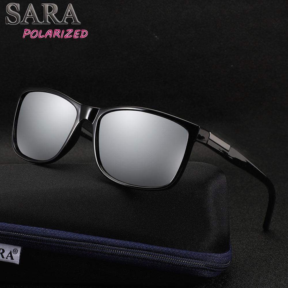 023e227b1ea10 SARA Classic Sunglasses Men Polarized Women Brand Design Driving Square  Frame Sun Glasses Male gafas de