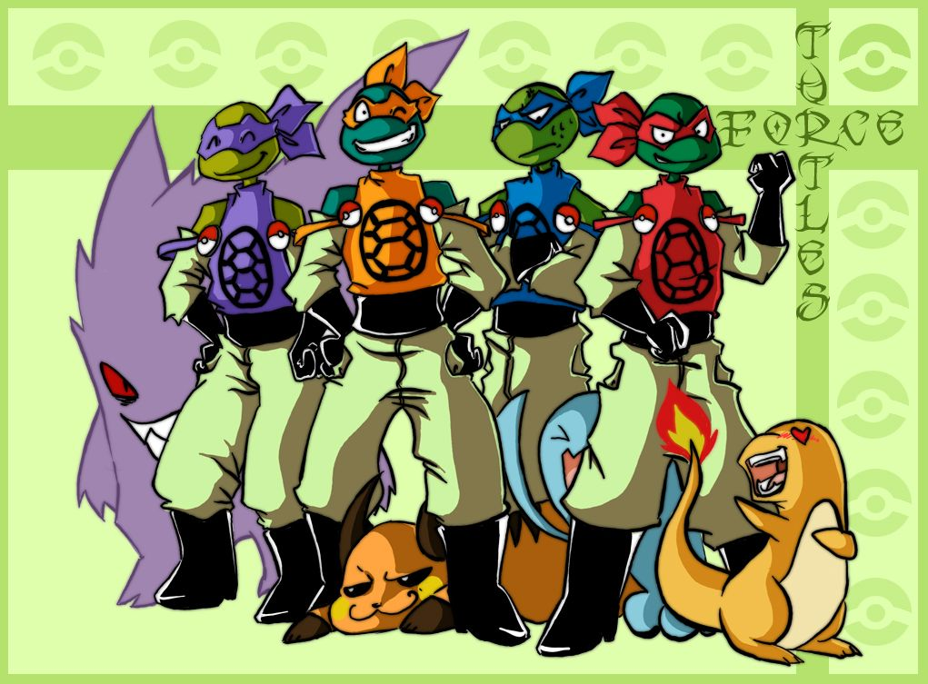 Pokemon: Turtles Force by *QueenSnow on deviantART