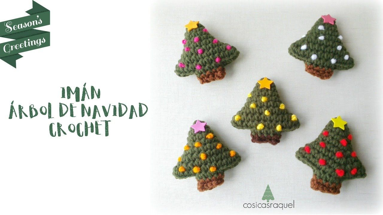 IMÁN ÁRBOL DE NAVIDAD A CROCHET | corona navidad | Pinterest ...