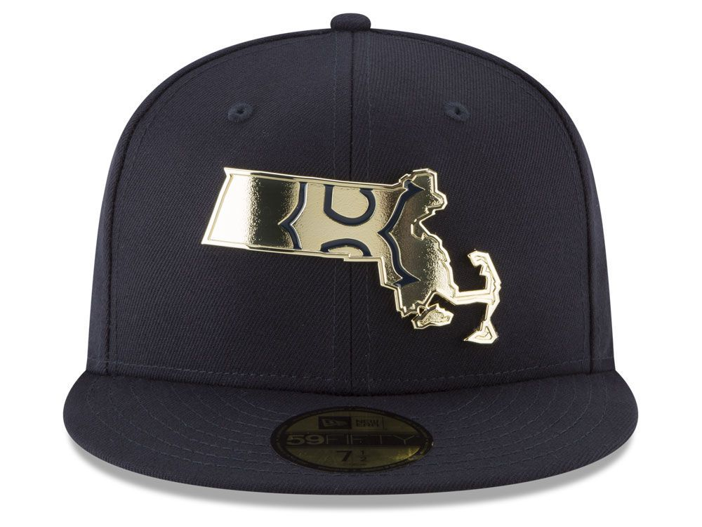 Boston Red Sox New Era Mlb Gold Stated 59fifty Cap Boston Red