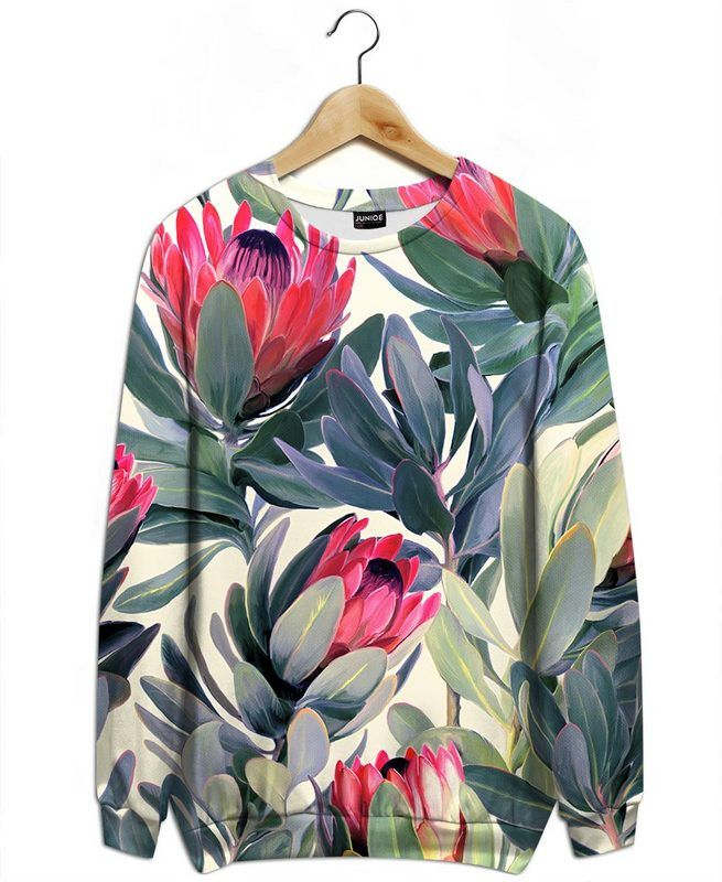 Painted Protea Pattern als Sweater All-Over-Druck von Micklyn Le Feuvre | JUNIQE
