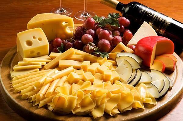 Deliciosa tabla de quesos.