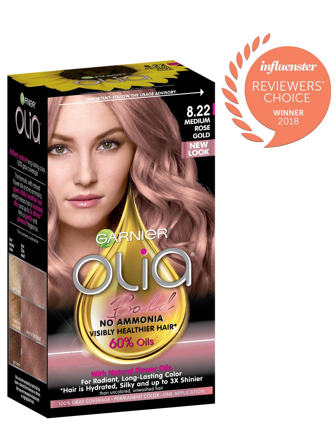 Olia Permanent Ammonia Free Hair Color Garnier Hair Color Rose Gold Gold Hair Colors Ammonia Free Hair Color