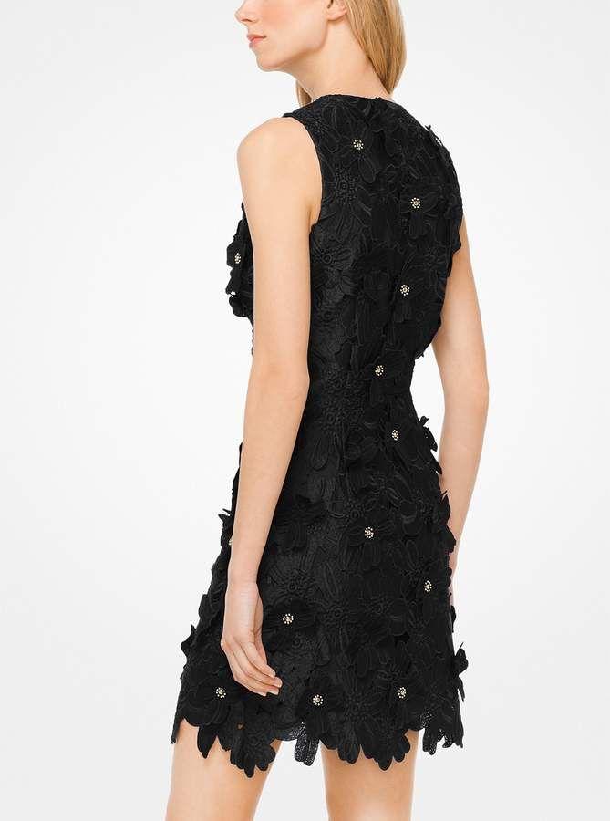 Michael Michael Kors Floral Applique Lace Dress Free