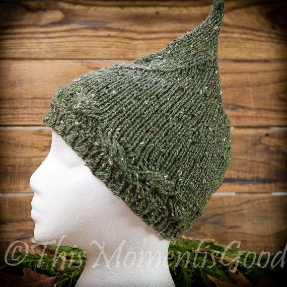 Loom Knit Pixie Hat Pattern Gnome Hat Pattern Elf Hat Pattern